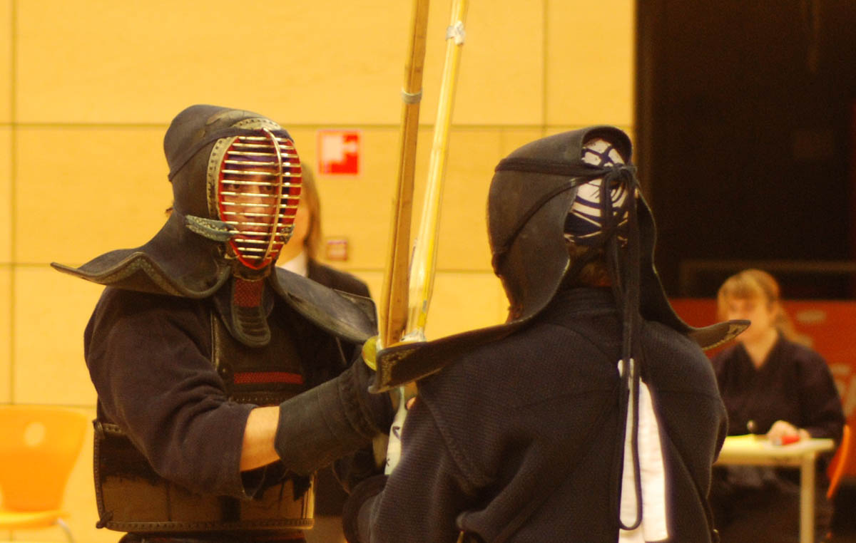 Rachid Karraz competing in the 2013 Edo Cup, a kendo tournament