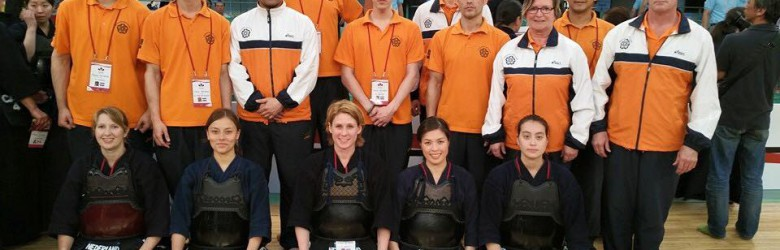 The Dutch National Team at the 16th World Kendo Championships, Tokyo
