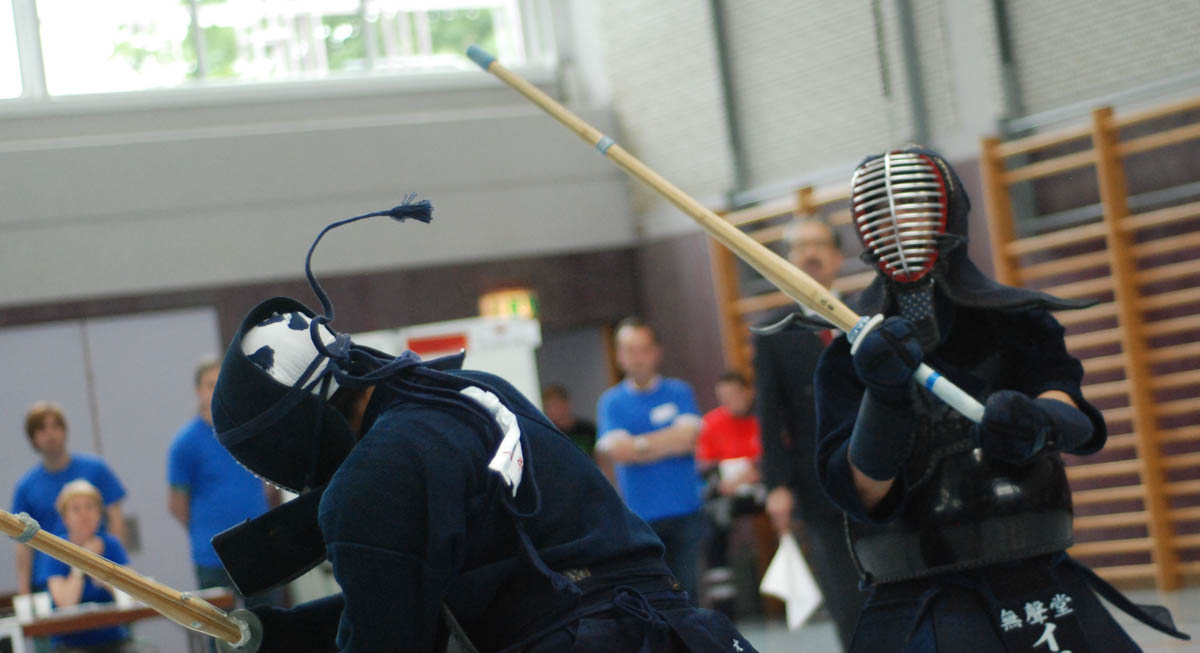 Patrick Toda competing in the 2012 Tengu Cup kendo competition